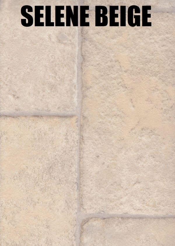 selene beige tile look vinyl