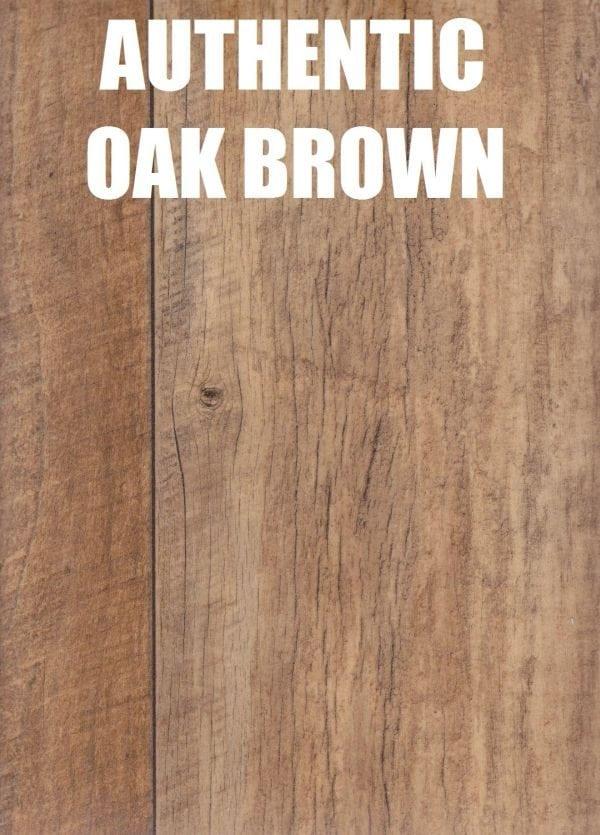 authentic oak brown timber look vinyl