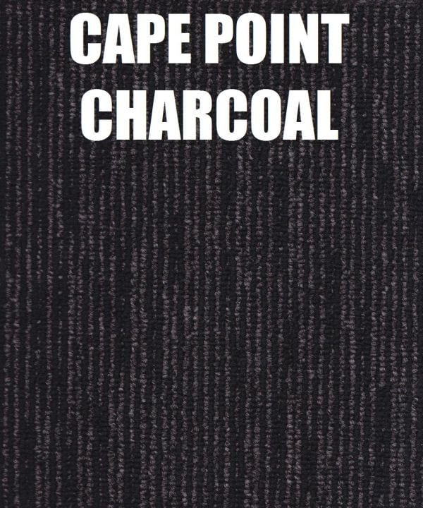 cape point charcoal carpet tile pro